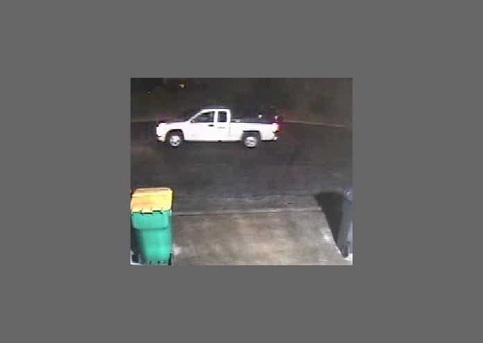 Someone driving a 2000-style Chevy Colorado pick-up truck stole $1,000 in change machine coins from Suds Your Duds Laundromat, 1602 Route 37. The burglary happened around 12:30 a.m. April 13. (Photo courtesy Toms River Police)
