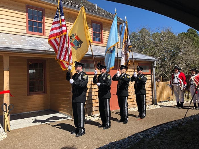 The Presentation of Colors by the Ocean County Sheriff's Office Color Guard. (Photo by Kimberly Bosco)