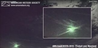 A screenshot of the video shared by the American Meteor Society.