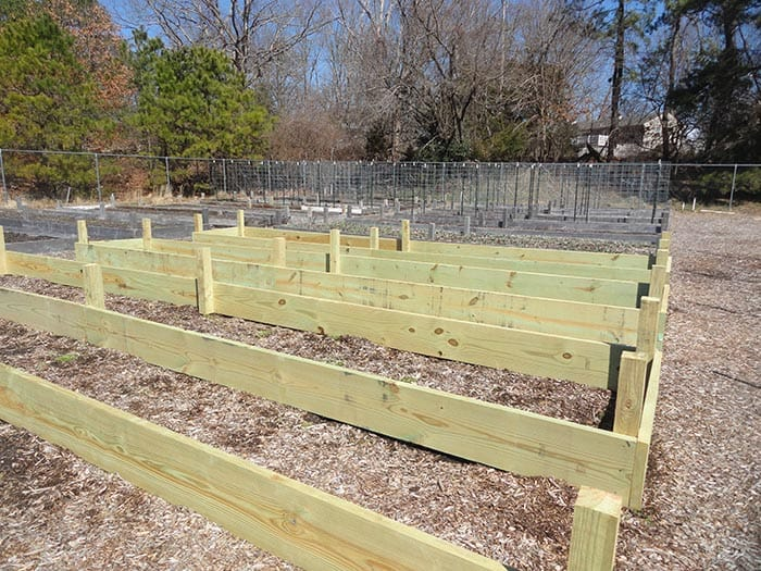 Volunteers have been getting the Wrangle Brook Community Garden ready for planting. (Photo by Patricia A. Miller)
