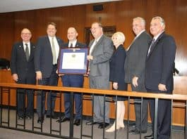 Ocean County Bradley Billhimer and members the Ocean County Prosecutor's Office were presented with re-Accreditation through the New Jersey State Association of Chiefs of Police through its New Jersey Law Enforcement Accreditation Commission (NJSACOP). (Photo courtesy Ocean County)