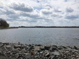 Today, the reservoir is a tranquil oasis in the middle of a busy area. (Photo by Judy Smestad-Nunn)