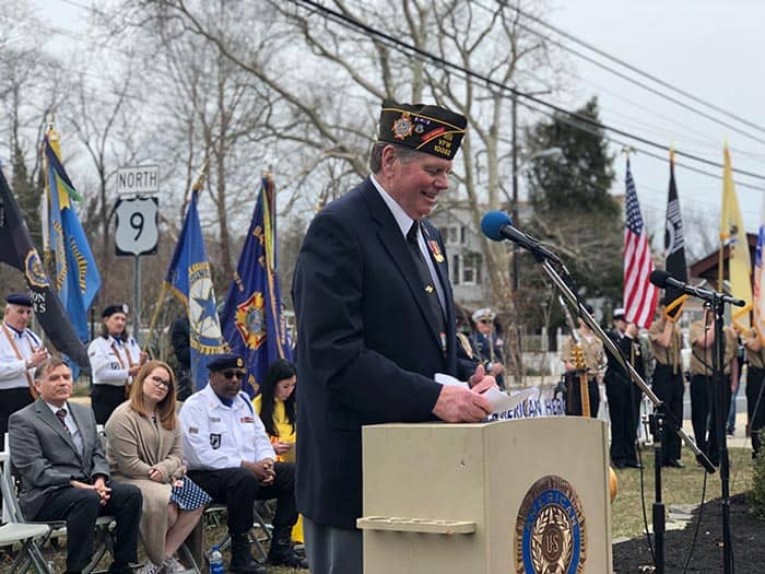 Barnegat VFW Commander Frank Healy. (Photo by Kimberly Bosco)