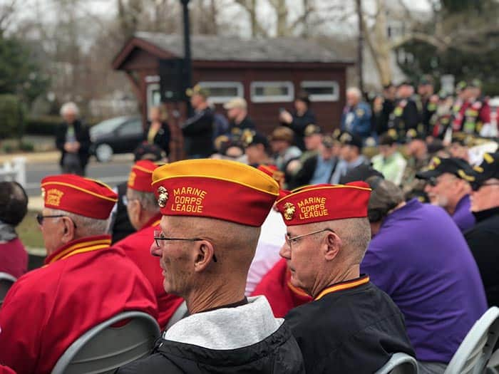 There were members of various veteran groups in the audience at the March 29 ceremony. (Photo by Kimberly Bosco)