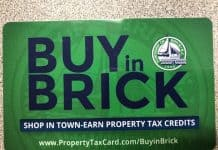 Residents who participate in the Brick program get a card like this one. (Photo by Judy Smestad-Nunn)