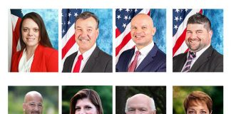 Top Row, left to right: Republicans Vicki Chadwick, Jim Fozman, Max Flores and Neil Napolitano. Bottom row, left to right, Democrats Vincent Minichino, Lisa Crate, Art Halloran and Andrea Zapcic, (Photos courtesy the candidates)