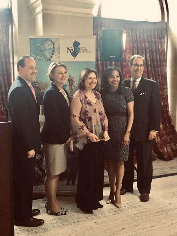 Southern Ocean Chamber along with members Suasion Communications Group and Six Flags Great Adventure is recognized in Trenton for excellence. (Photo courtesy Southern Ocean County Chamber of Commerce)