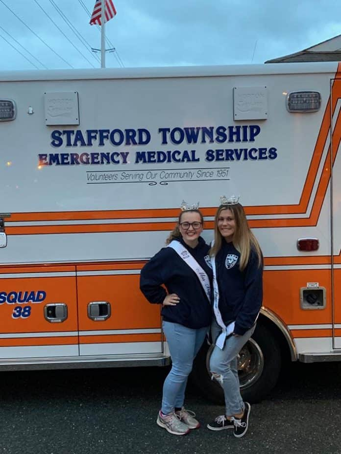 Meet the newest additions to Squad 38 Jessica Lependorf and Maddy Brown, both former Miss Stafford Township winners. (Photo courtesy Stafford EMS)