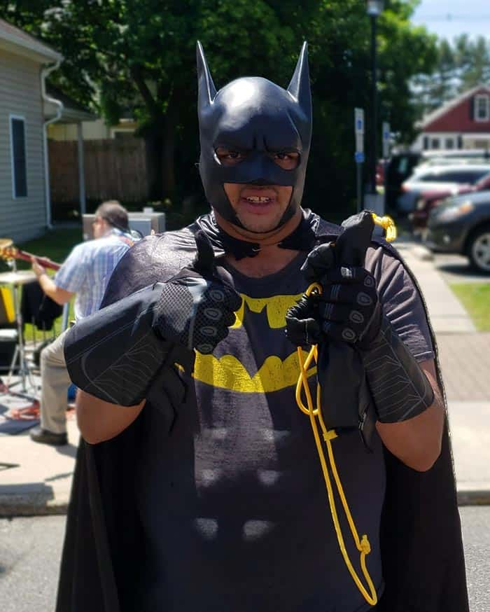 Batman took a break from Gotham City to visit Plumsted Township and enjoy New Egypt Day on May 18. (Photo courtesy Plumsted Township)