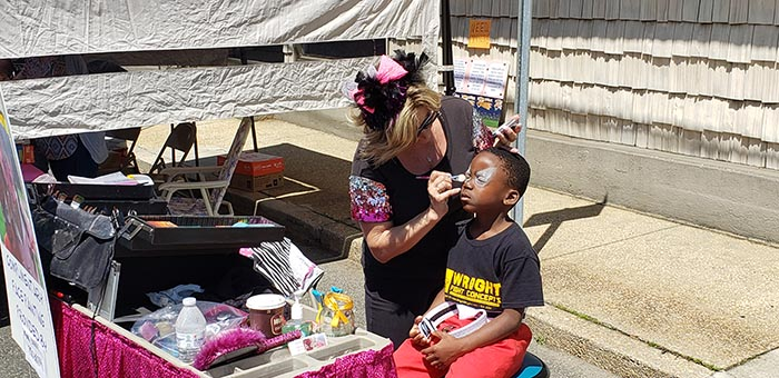 A child enjoys a face painting activity during Saturday's New Egypt Day which took place along Main Street. (Photo courtesy Plumsted Township)