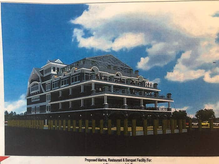 This rendering shows what Vilamoura, LLC has in mind for the site. (Photo by Judy Smestad-Nunn)