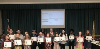 On April 17, Howell Township Schools held its annual Howell Township Student Board of Education Day where students get a taste of what it's like to run the district. (Photo courtesy Howell Board of Education)