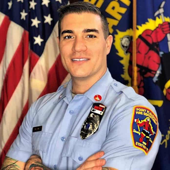 Mitch Remig during his tenure as a firefighter. (Photo courtesy Jared Remig)