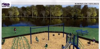 A rendering of the new park at Bamber Lake. (Photo courtesy Lacey Township)