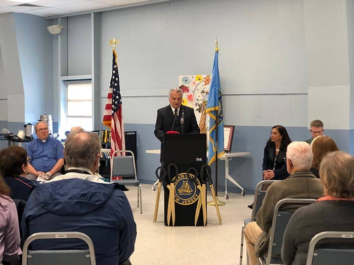 Freeholder Joseph H. Vicari, Chairman of the Office of Senior Services, is an advocate for the senior population in Ocean County, providing the opening remarks at the ceremony. (Photo by Kimberly Bosco)