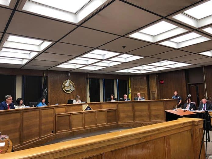 The Township Council listened to residents during the meeting. (Photo by Judy Smestad-Nunn)