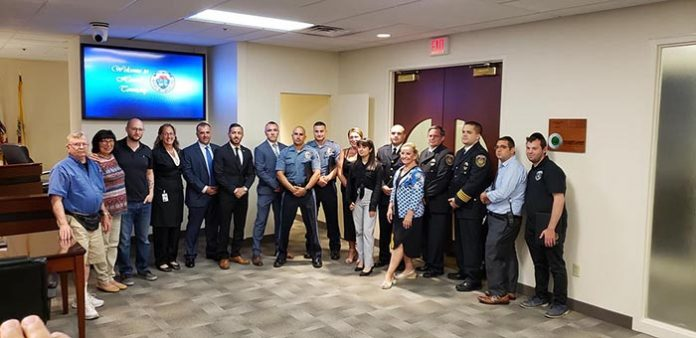 Members of the squad were honored at a recent meeting. (Photo courtesy Howell Township First Aid and Rescue Squad No. 1)