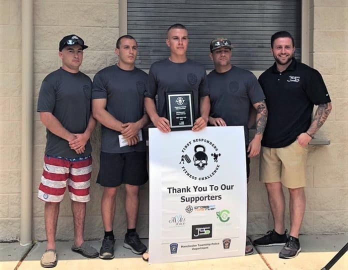 Stafford Township Police Department came in first place. (Photo courtesy Manchester Township Police Department)