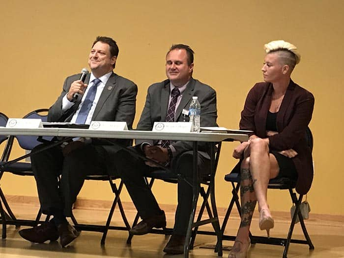 Prosecutor Bradley Billhimer said children need to be educated earlier about how to make good choices regarding drugs. (Photo by Chris Lundy)