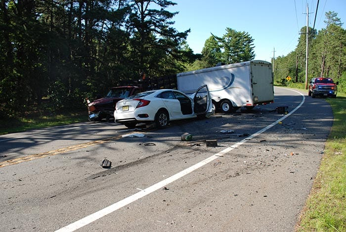 Manchester officers responded to the area of Manchester Boulevard and Route 70 for a report of a multi-vehicle crash. (Photo courtesy Manchester Township Police)