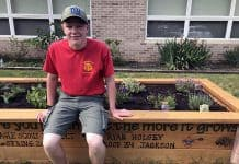 Ryan Holsey, 16, of Jackson made it his mission to build a raised sensory garden for individuals with intellectual and developmental disabilities (I/DD) at The Arc of Monmouth's Tinton Falls headquarters. (Photo courtesy Arc of Monmouth)