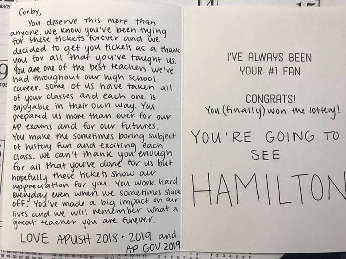 """""""You're going to Hamilton"""" was not a joke. (Photo courtesy Thomas Corby)"""