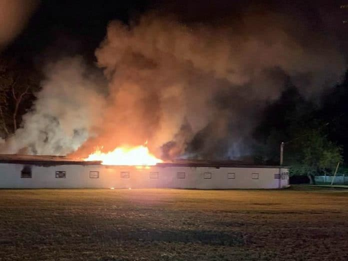 The cause of the fire is still under investigation. (Photo courtesy Howell Township Police Department)