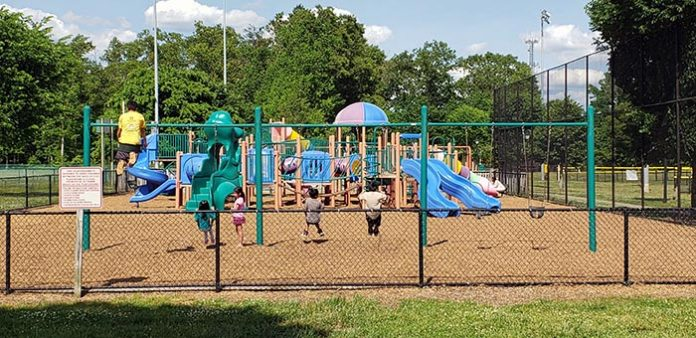 Jackson playgrounds including its roller hockey park are seen during a recent sunny day. (Photo by Bob Vosseller)