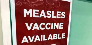Measles. (Photo by Chris Lundy)