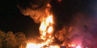 A two-alarm fire at the landfill. (Photo courtesy Tinton Falls Fire Co. No. 1)