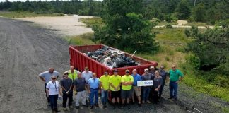 Volunteers and Clean Communities personnel clean over 5 tons of trash for the Barnegat Bay blitz on June 7. (Photo courtesy Toms River Township)