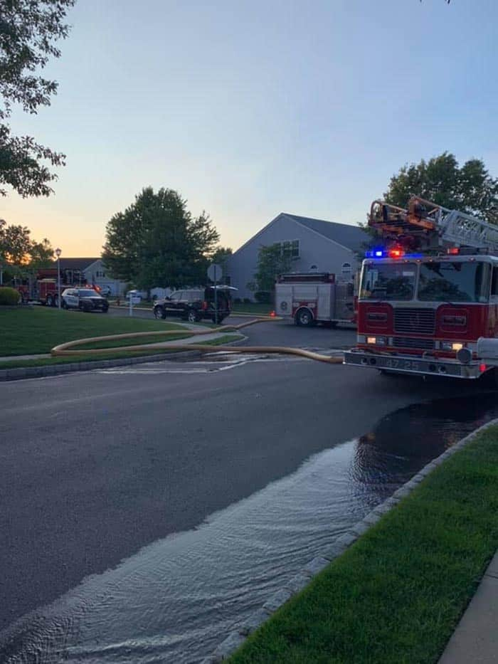 On Monday at 7:30 p.m., Barnegat Station 11 and Stafford Station 47 arrived at the home to see light smoke coming from the rear of the home. (Photo reader submitted)
