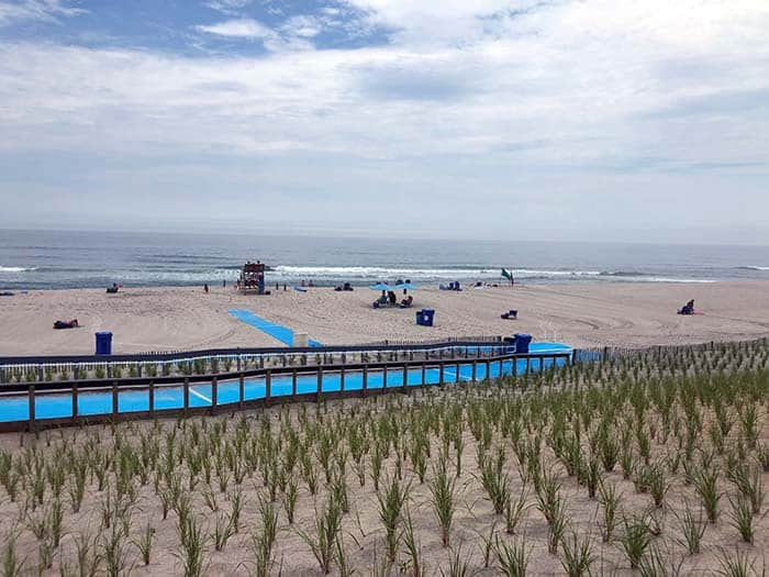 At Brick Beach I, Mobi-mats were installed to make the entrances to the beach safer for beachgoers and for the environment. (Photo by Judy Smestad-Nunn)