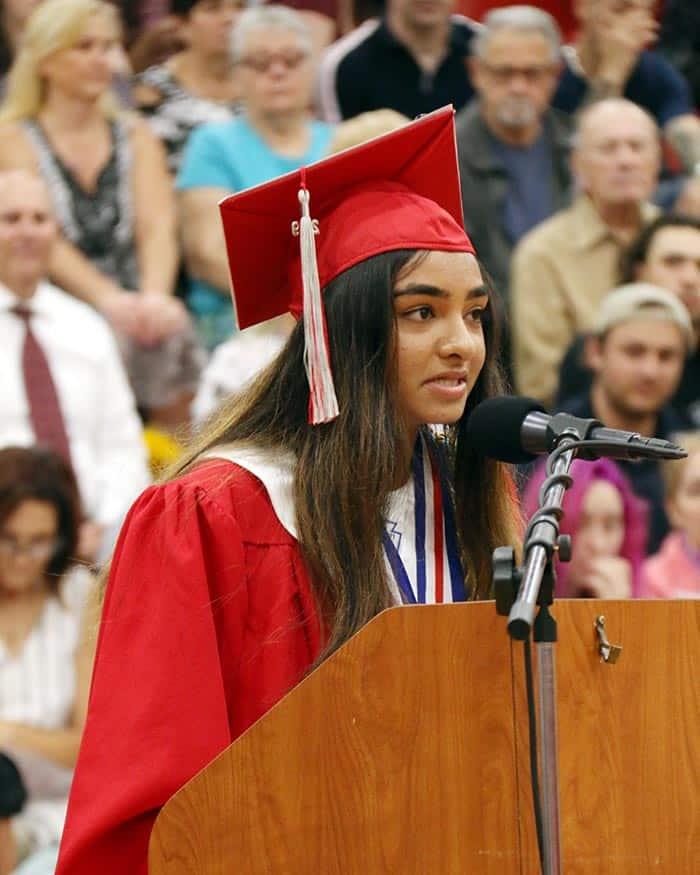 Jackson Liberty High School salutatorian Veerali Patel. (Photo courtesy Jackson Township School District)