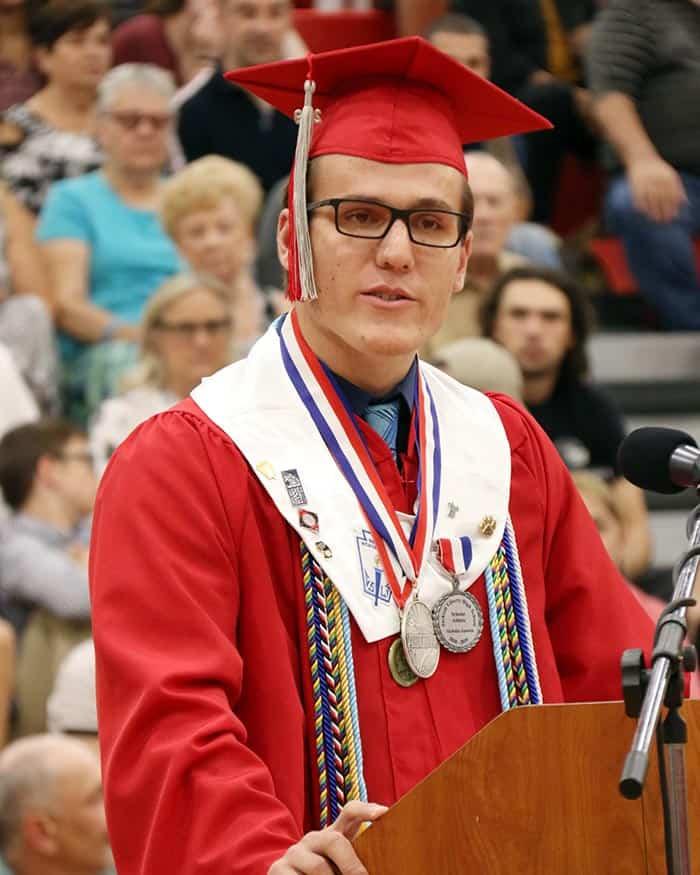 Jackson Liberty High School valedictorian Nicholas Gawron. (Photo courtesy Jackson Township School District)