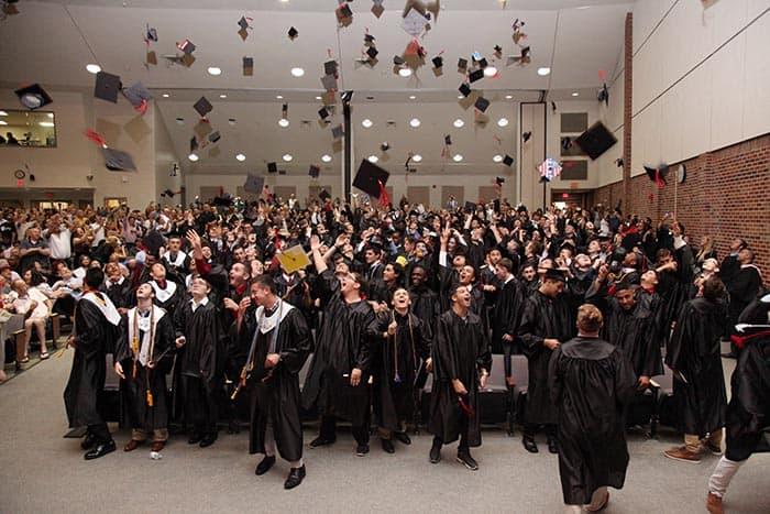 Jackson Memorial graduates. (Photo courtesy Jackson Township School District)