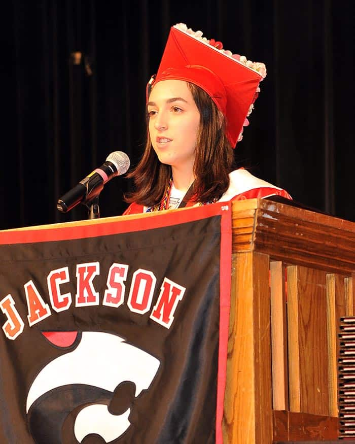 Jackson Memorial High School salutatorian Elizabeth Pandolpho. (Photo courtesy Jackson Township School District)