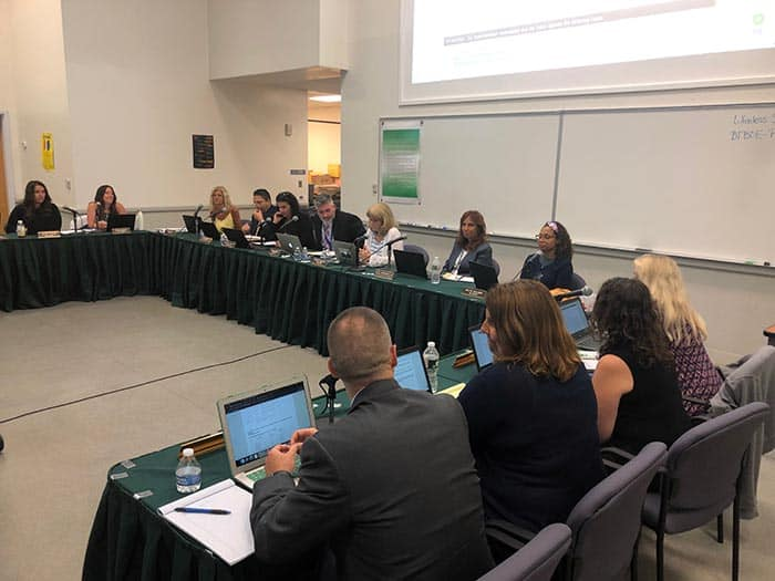 The Board of Education began a search for a new superintendent. (Photo by Judy Smestad-Nunn)