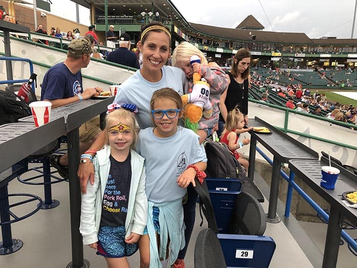 Brie Zilinski and three daughters (left to right) Quinn, Ellie, and Piper. (Photo courtesy Think Media Communications)