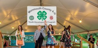 Freeholder Lillian G. Burry and Olive Scaff of Atlantic Highlands celebrate after the Monmouth County Fair 4-H Ambassador crowning held on Wednesday, July 24 at East Freehold Park. (Photo courtesy Monmouth County)