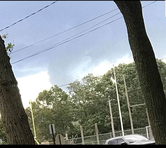 """Did this storm produce a tornado in Point Pleasant Borough? The National Weather Service hasn't confirmed yet. (Photo courtesy Bob """"Weatherman"""" Burger.)"""