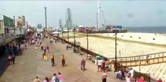 Seaside Heights Boardwalk. (Photo courtesy Seaside Heights Earthcam)