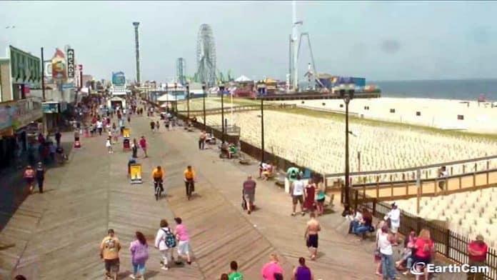 Seaside Heights Boardwalk. (Photo courtesy Seaside Heights Earthcam)