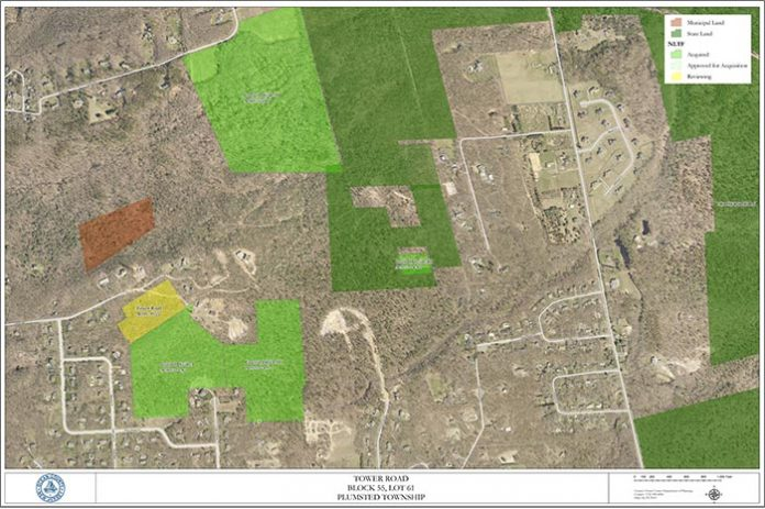 This map shows the property the county will be purchasing. (Map courtesy Ocean County)