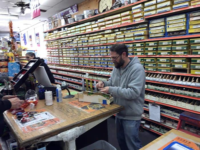 Employees at Ken's Hardware in Toms River help customers. (Photo by Chris Lundy)