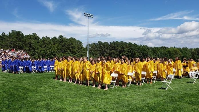The Class of 2023 graduated from Manchester Middle School June 21. (Photo courtesy Manchester Township School District)